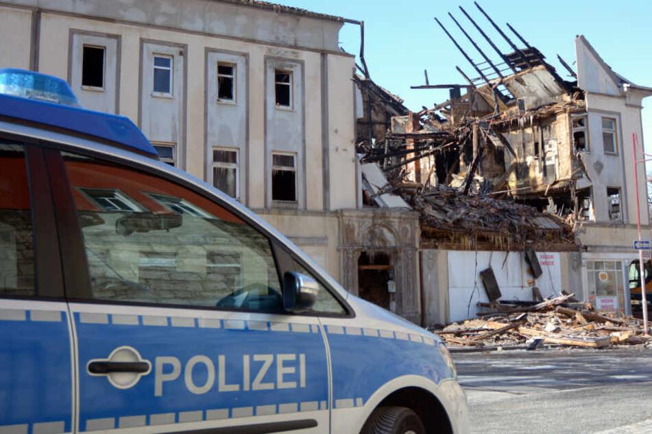 Das Haus wurde bei dem Brand vollständig zerstört.