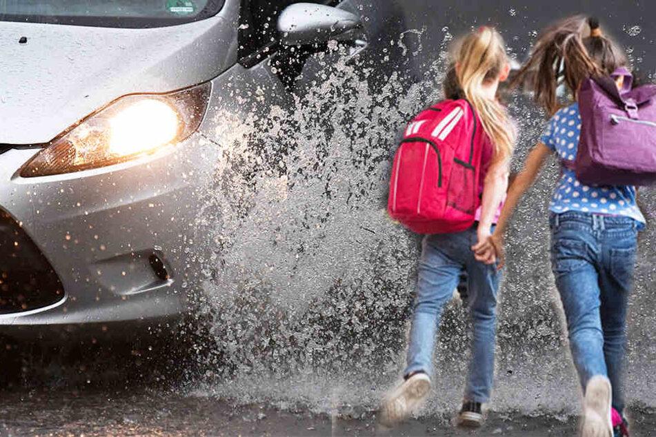 Ein Mann sprach bei Regenwetter eine 10-Jährige an. Alles ist jedoch halb so wild.