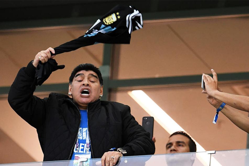 Dreht bei den Spielen seiner Nationalmannschaft regelmäßig durch: Diego Armando Maradona.
