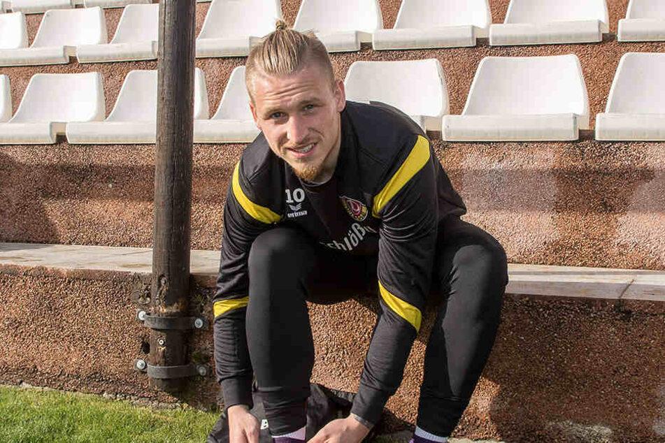 Marvin Stefaniak schnürt nur noch in dieser Rückrunde die Stiefel für Dynamo. Im Sommer geht's dann nach Wolfsburg.