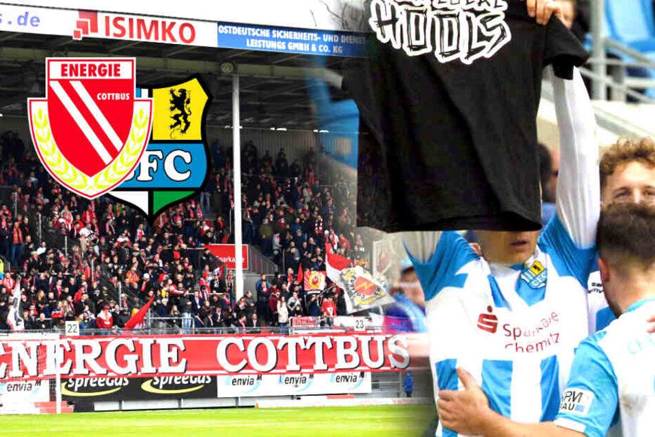 Bürgermeister fassungslos: Auch bei Energie Cottbus Banner für toten Chemnitz-Fan