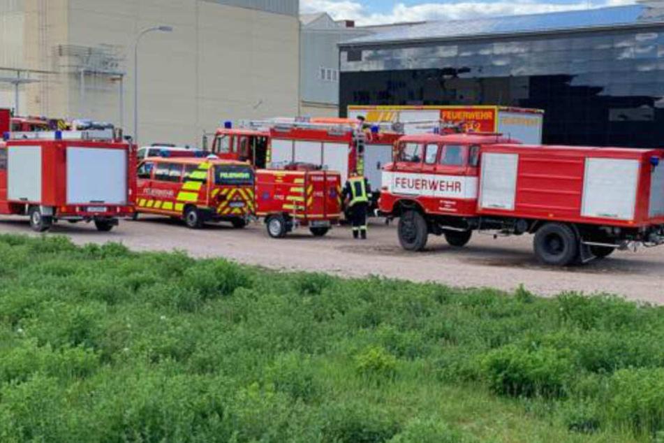 Mit 40 Einsatzkräften war die Feuerwehr vor Ort.