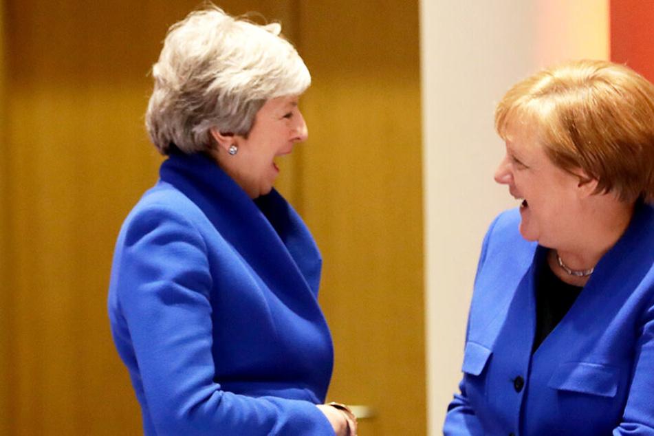 Theresa May (links) und Angela Merkel bei dem EU-Sondergipfel.