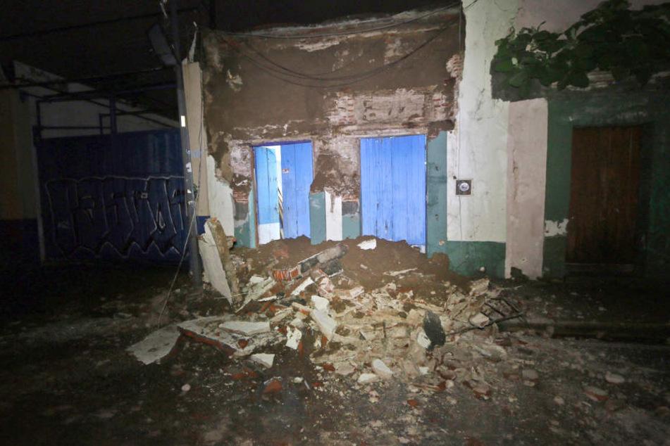 Eingestürzte Mauern in der Stadt Oaxaca.
