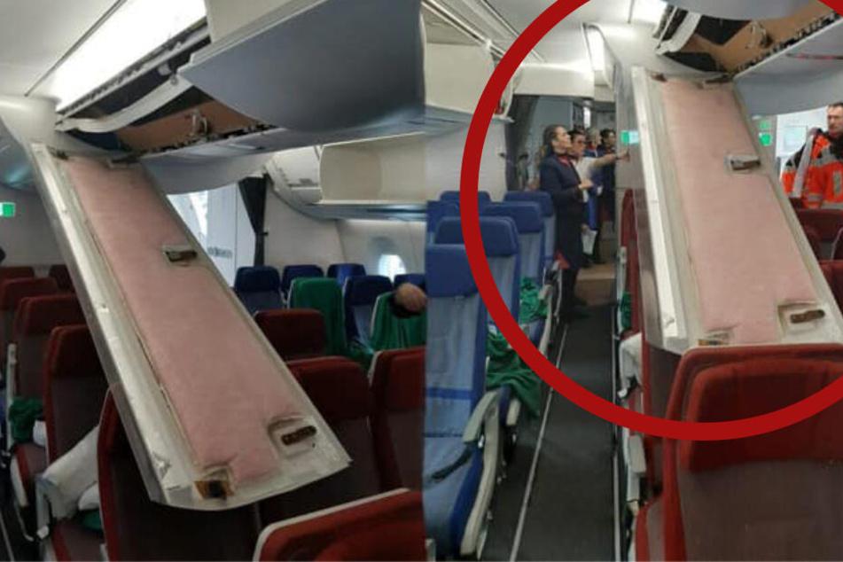 Deckenverkleidung kracht auf Passagiere: Schock bei Landung in Frankfurt