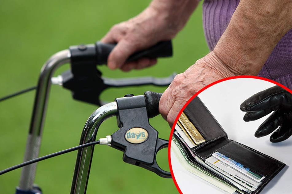 Der Mann gab sich noch freundlich, doch nachdem er der Seniorin ihren Rollator vor die Wohnung getragen hatte, war die Geldbörse weg!