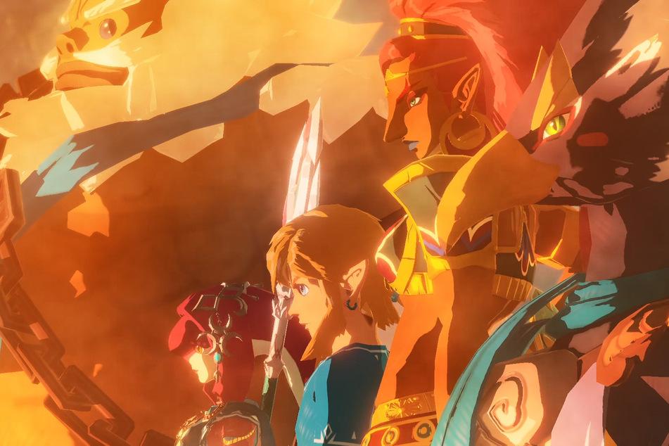Link und die Recken Hyrules gehen in die Schlacht gegen die Verheerung Ganon.