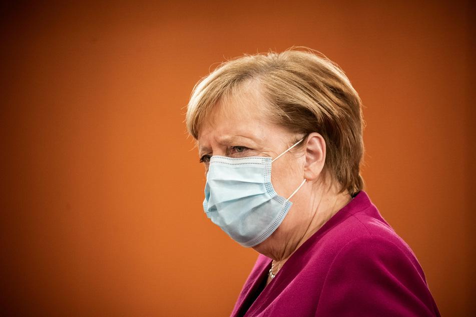 Bundeskanzlerin Angela Merkel (66, CDU), kommt zur Sitzung des Bundeskabinetts im Kanzleramt.