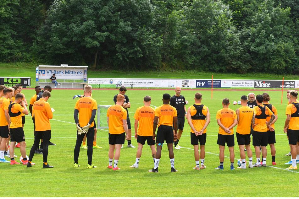 Die Dynamos beim Training. Die Stimmung war trotz aller Arbeit und Anstrengungen stets locker und gelöst, auch der Spaß kam nicht zu kurz.