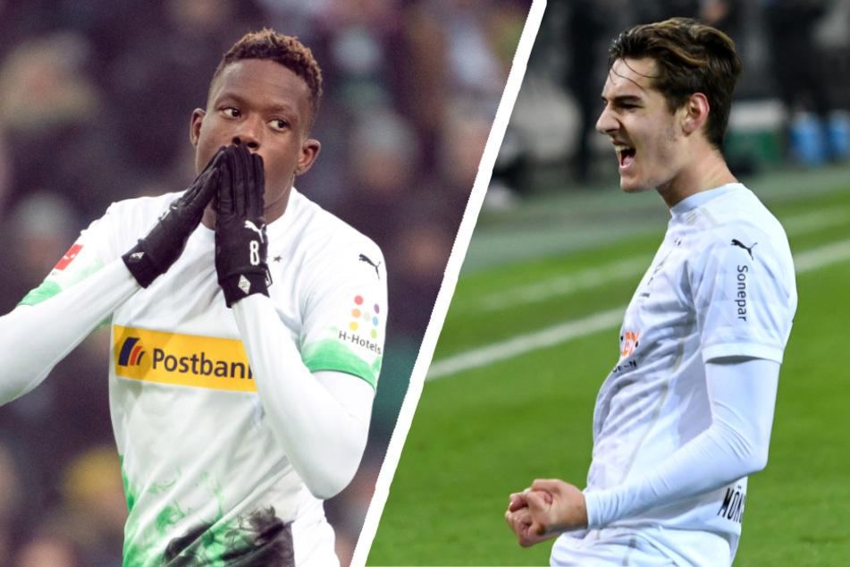 Denis Zakaria (24, l.) und Florian Neuhaus (23) stehen beim FC Bayern offenbar ganz oben auf der Wunschliste für die kommende Saison.