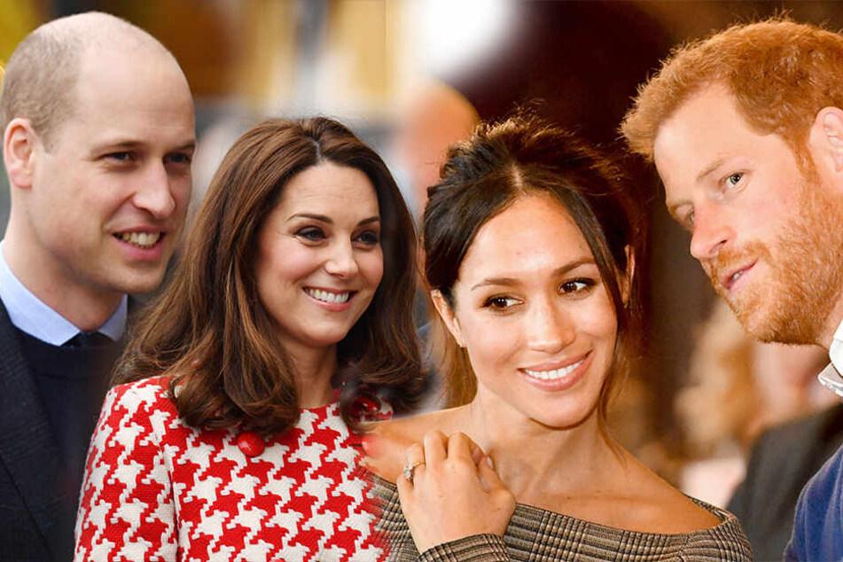Auch die Royals haben bürgerliche Probleme: Prinz William, Herzogin Kate, Herzogin Meghan und Prinz Harry. (v.li.)