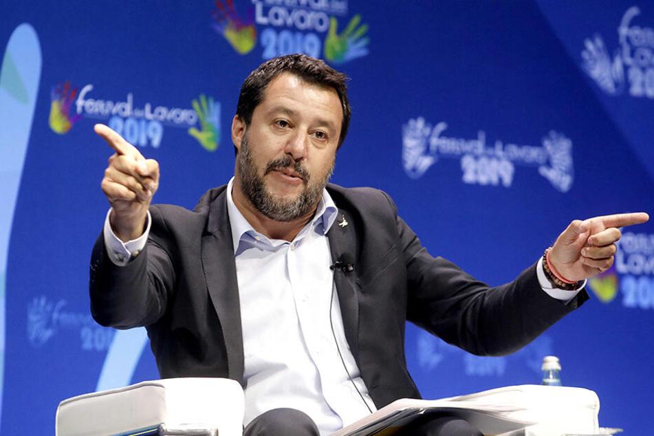Der Vize-Regierungschef und italienische Innenminister Matteo Salvini (46).