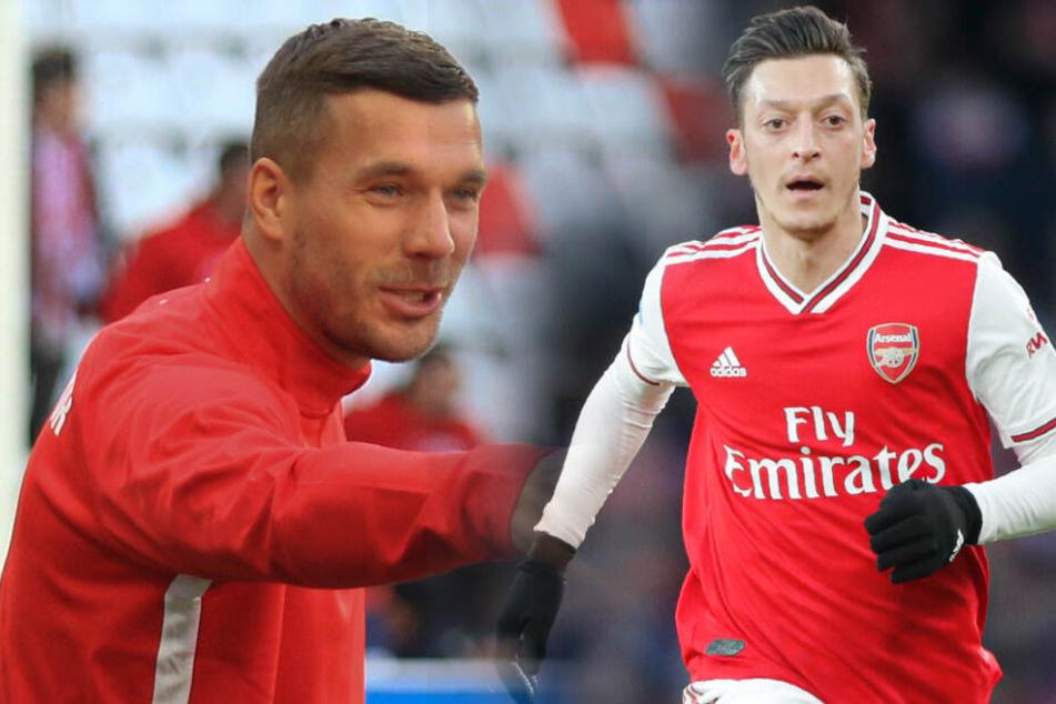 Jürgen Klinsmann hatte offenbar Interesse an Lukas Podolski und Mesut Özil. (Bildmontage)