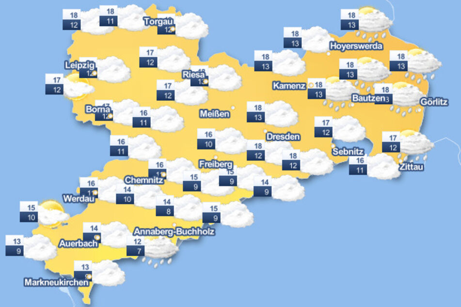 Die Wetter-Karte lässt für den heutigen Freitag nichts gutes vermuten.