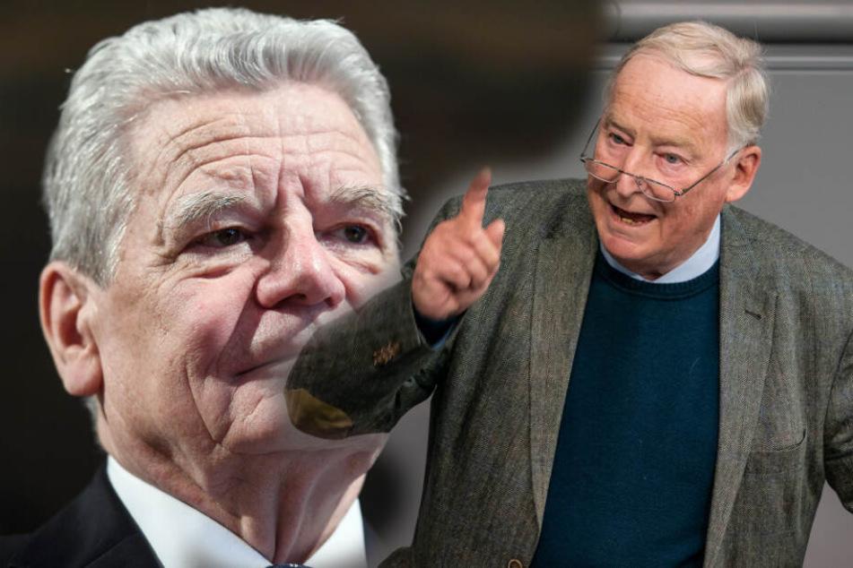 """Ex-Bundespräsident Gauck hält AfD für """"verzichtbar"""""""