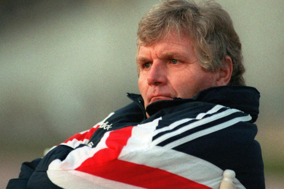 Leipzig im Oktober 1992: Sundermann war damals Trainer des VfB Leipzig.