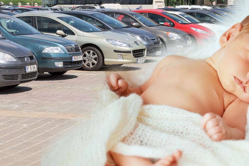 Der neugeborene Junge wurde auf dem Parkplatz einer Klinik entdeckt.