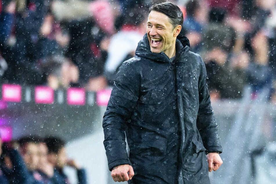 Hat wieder gut lachen: Bayern-Coach Niko Kovac konnte sich über einen klaren 6:0-Erfolg seiner Mannschaft gegen den 1. FSV Mainz freuen.