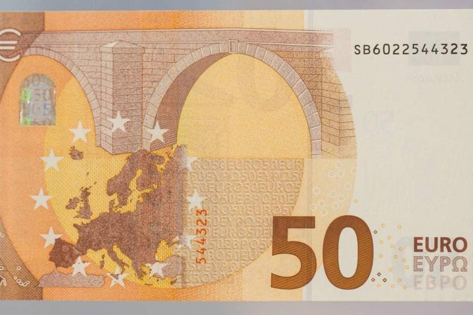 So sieht die Rückseite des neuen 50-Euro-Scheins aus.