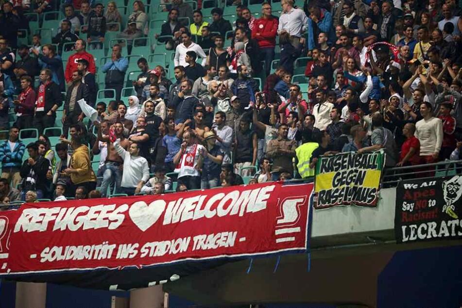 Fans von RB Leipzig zeigen auch im Stadion politische Haltung.