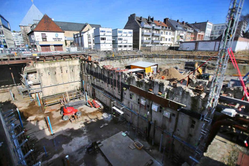 Die Baustelle im Jahr 2014.