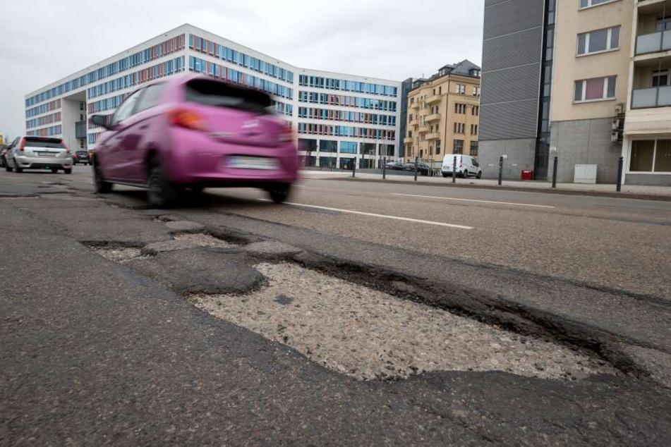 Frost-Folgen: Immer größere Schäden auf Chemnitzer Straßen