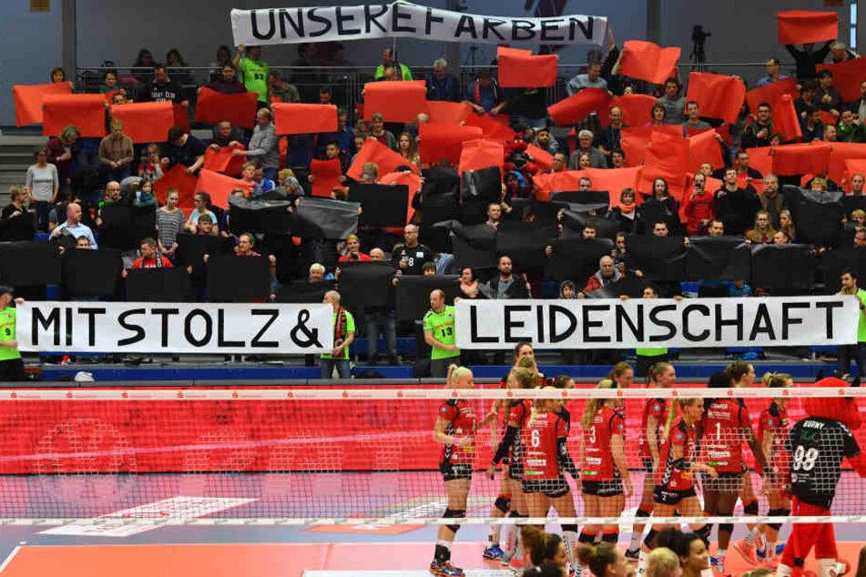 Die Fans standen bedingungslos hinter dem Team.