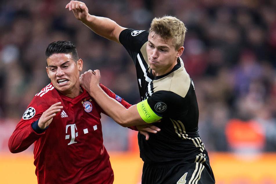 Der jüngste Kapitän in der Ajax-Vereinsgeschichte: Matthijs de Ligt (r.) wird von allen Spitzenvereinen gejagt.