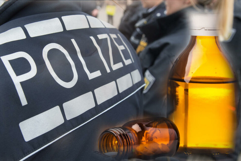 Als die Polizei seine wahre Identität erkannte, trank der Verdächtige eine Flasche Schmerzmittel. (Symbolbild)