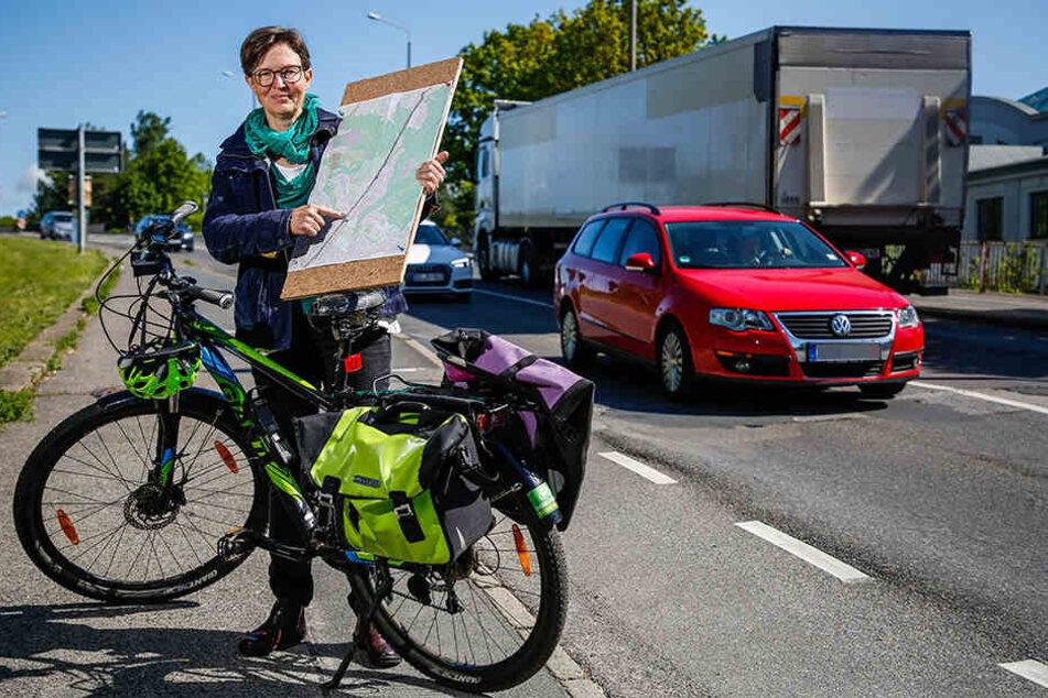 Stadträtin Ulrike Caspary (51, Grüne) kämpft für einen Radschnellweg zwischen Klotzsche und der Neustadt.