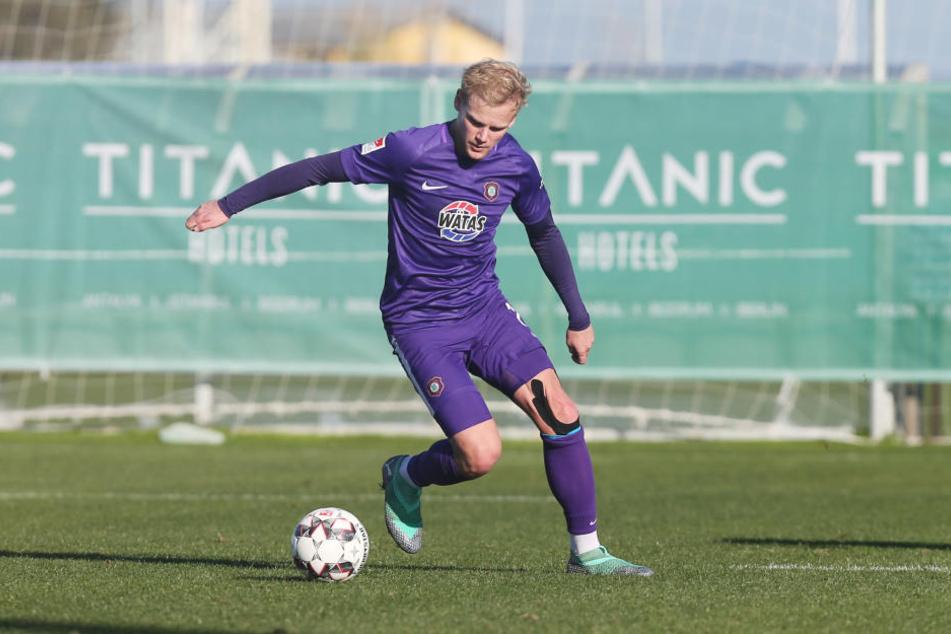 Der Test am Mittwoch gegen den Halleschen FC war sein letztes Spiel für den FC Erzgebirge.