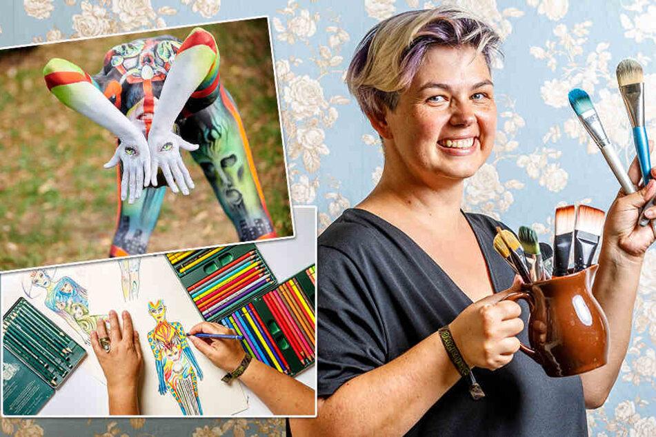 Kunst auf nackter Haut: Deutsche Bodypainterin schafft es wieder an die Weltspitze