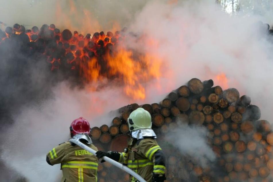 Kameraden von drei Wehren löschten die Flammen.