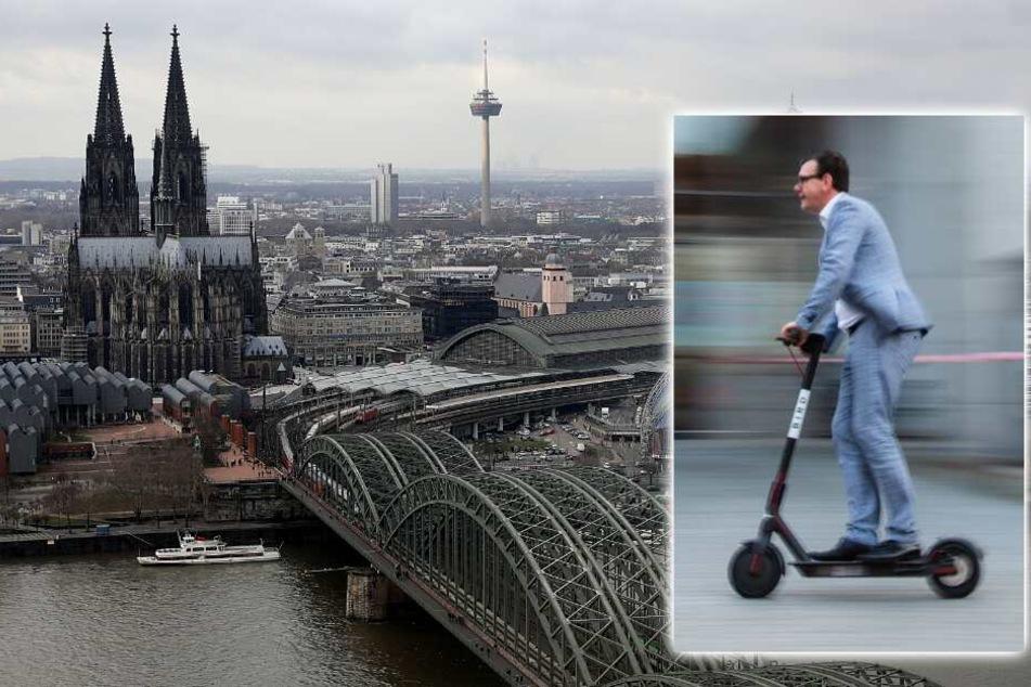 Köln: Wird Köln jetzt mit E-Scootern geflutet?