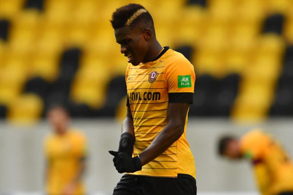 Moussa Koné gehörte in einer schwachen Dynamo-Hinrunde noch zu den besten im Dresdner Trikot.