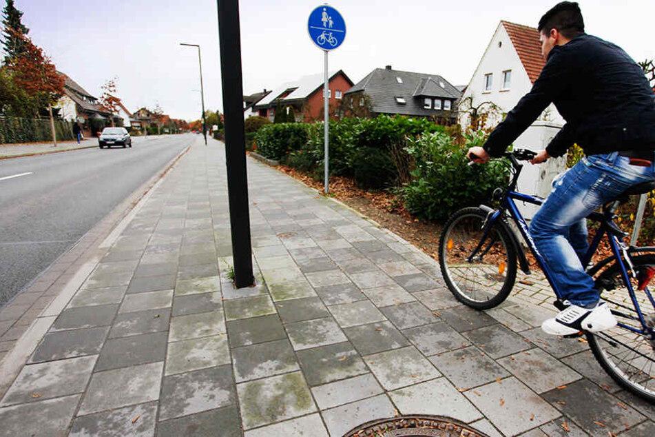 Die gleichzeitige Nutzung von Radweg und Gehweg ist in Verl nicht möglich.
