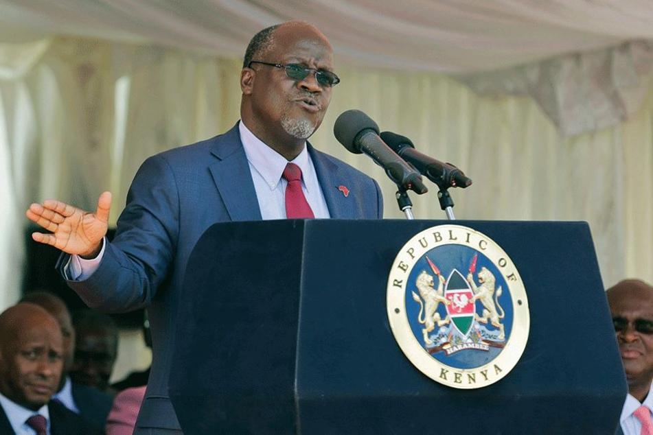 Präsident John Magufuli (58).