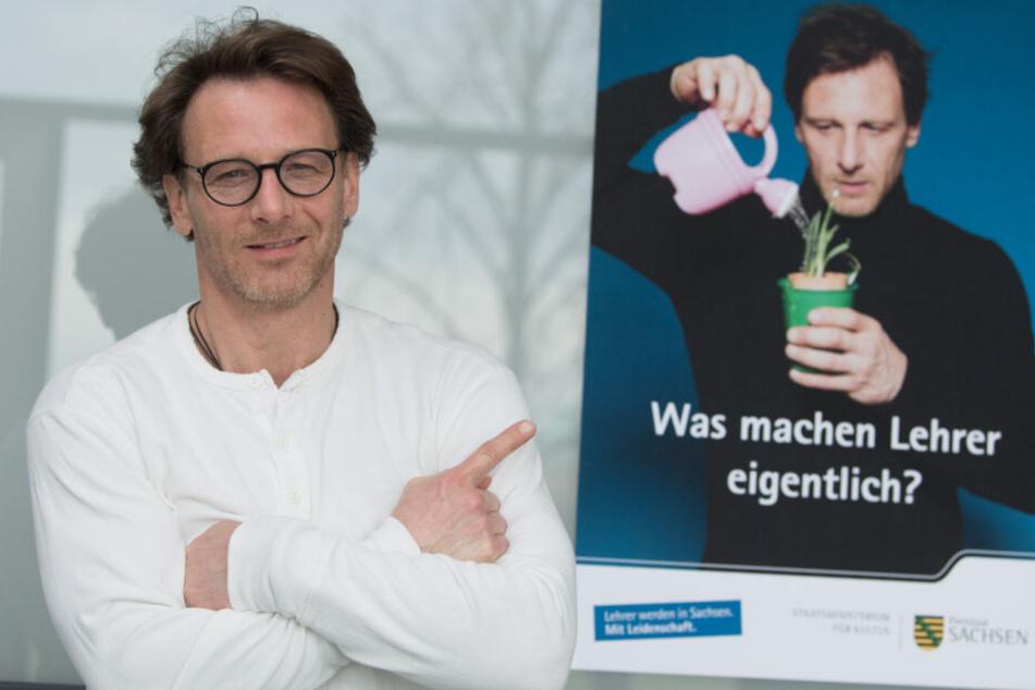 """Hendrik Duryn lockt """"Kollegen"""" an: TV-Lehrer legt sich für Sachsens Zukunft ins Zeug"""