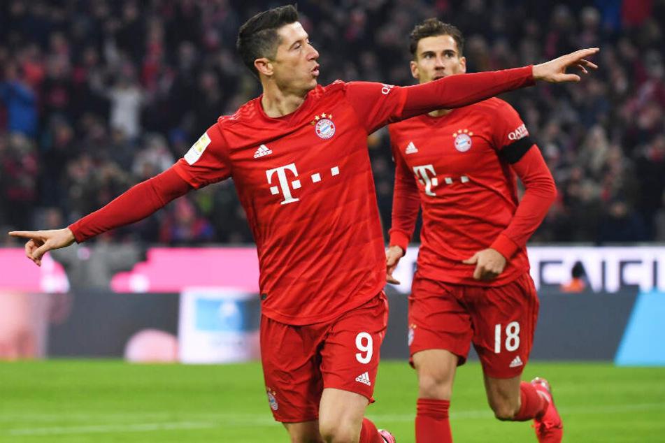 Robert Lewandowski trifft für den FC Bayern München derzeit beinahe nach Belieben.