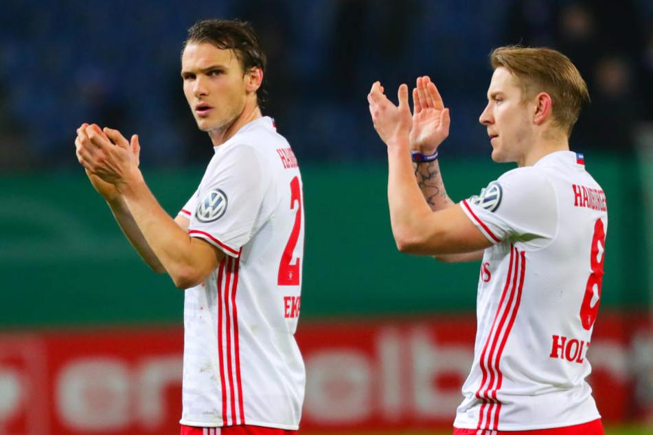 Albin Ekdal (l) will den HSV verlassen.