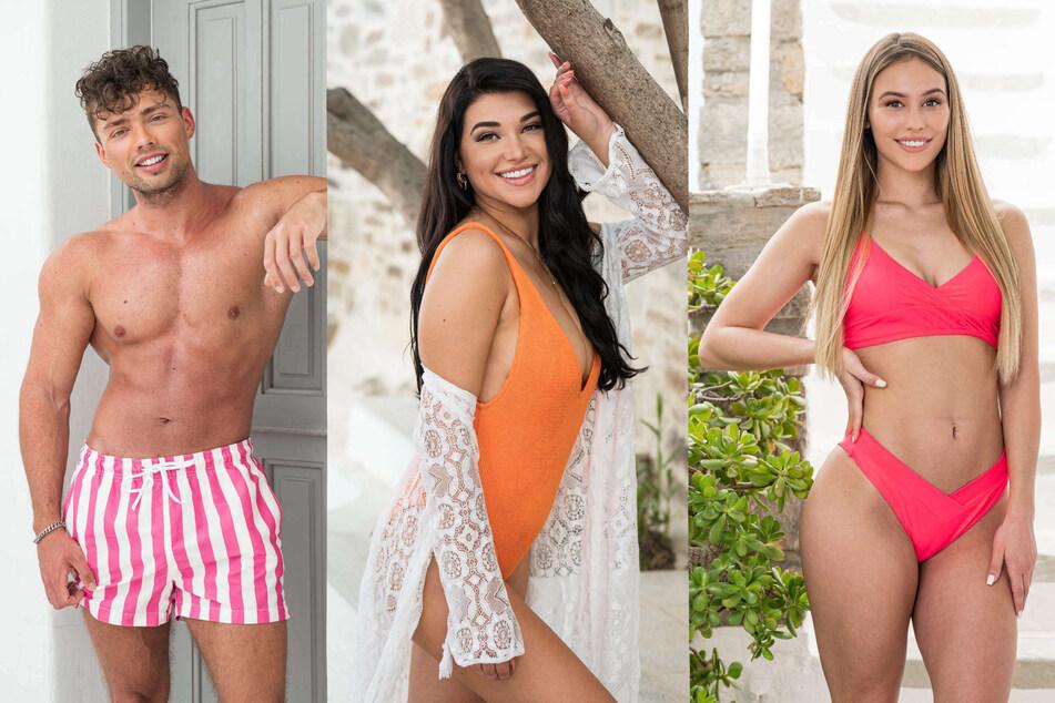 """Die ehemaligen """"Love Island""""-Kandidaten Josua Günther (26), Jules Wohlgemuth (25, M.) und Melina Hoch (24)."""