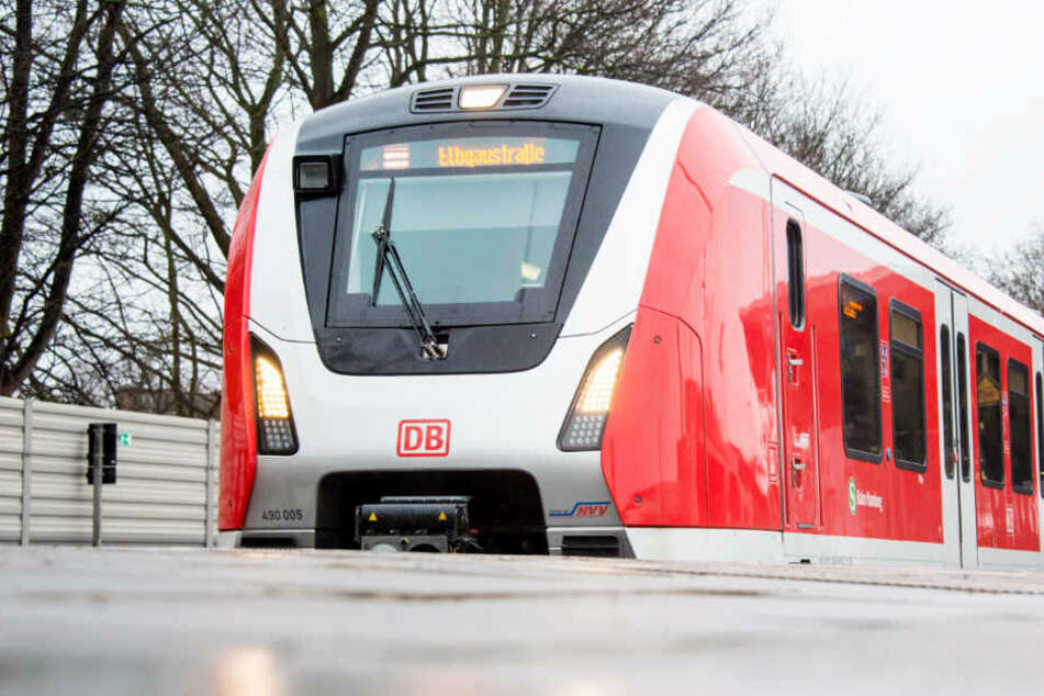 """Eine S-Bahn der neuen Baureihe """"ET 490"""" steht in einem Bahnhof in Hamburg."""