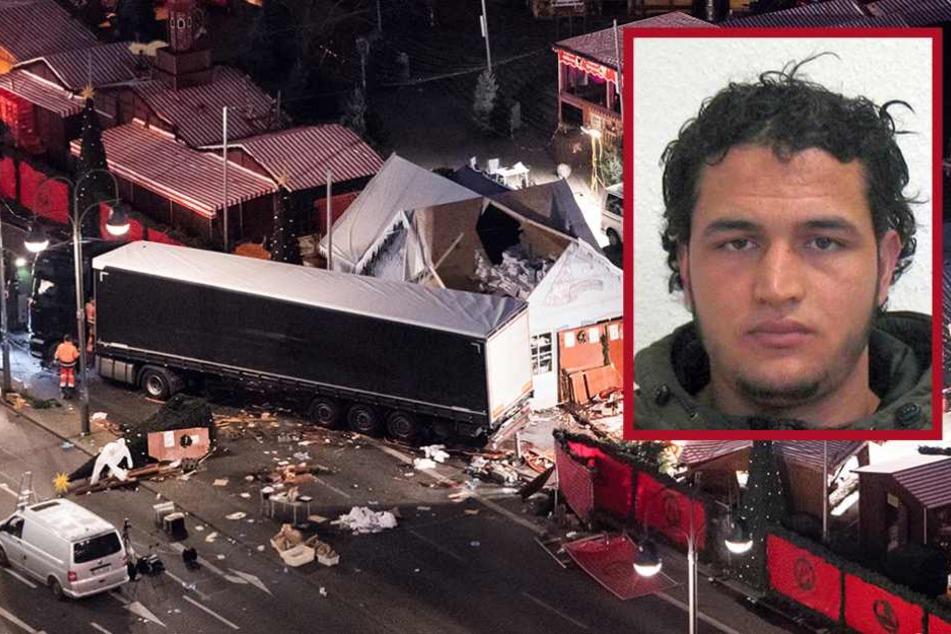 Anis Amri (kl. F.) raste mit dem Sattelzug auf den Weihnachtsmarkt auf dem Breitscheidplatz. Dabei starben zwölf Menschen.