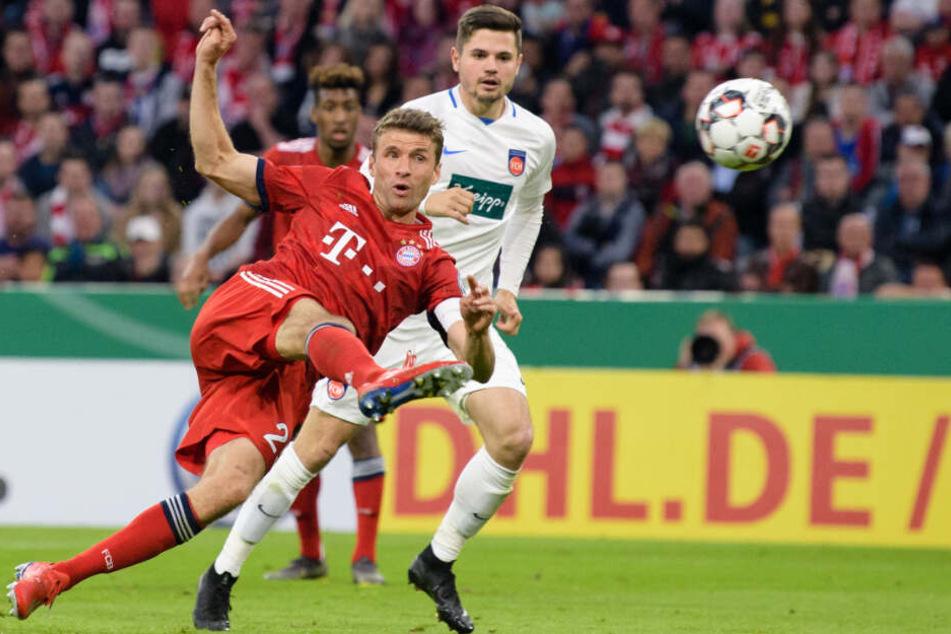 Thomas Müller konnte den FC Bayern mit seinem Treffer wieder in die Spur schießen.