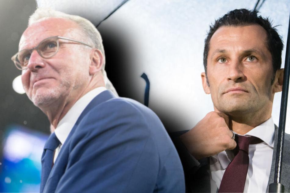 Karl-Heinz Rummenigge, Vorstandschef vom FC Bayern und Hasan Salihamidzic, Sportdirektor vom FC Bayern, werden wortgleich zitiert. (Bildmontage)