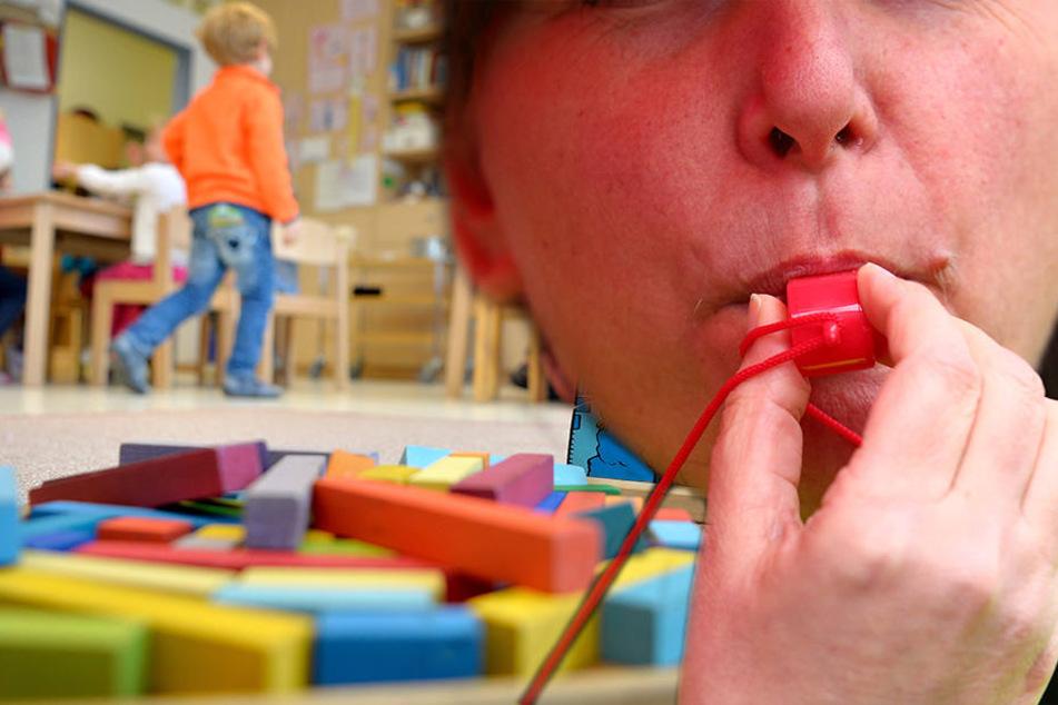 Wegen der Warnstreiks der Beschäftigten kommt es in etlichen Kindertagestätten und Horten in Leipzig zu Engpässen.