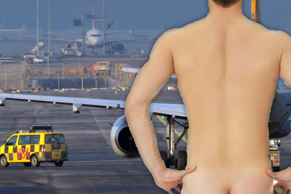 Asylbewerber soll abgeschoben werden und flüchtet daraufhin nackt über Flughafen-Rollfeld