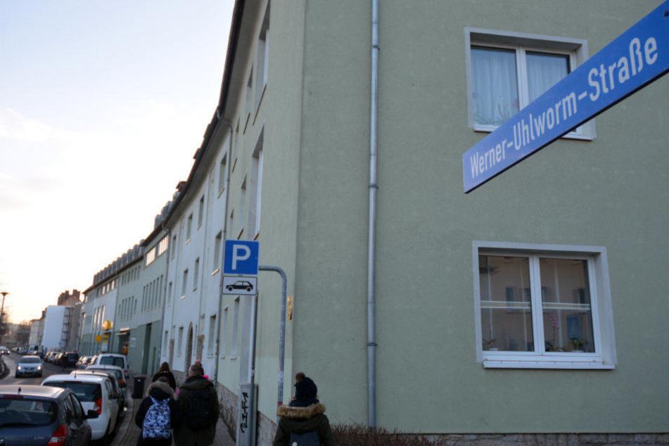 In der Werner-Uhlworm-Straße ereignete sich der schreckliche Vorfall.
