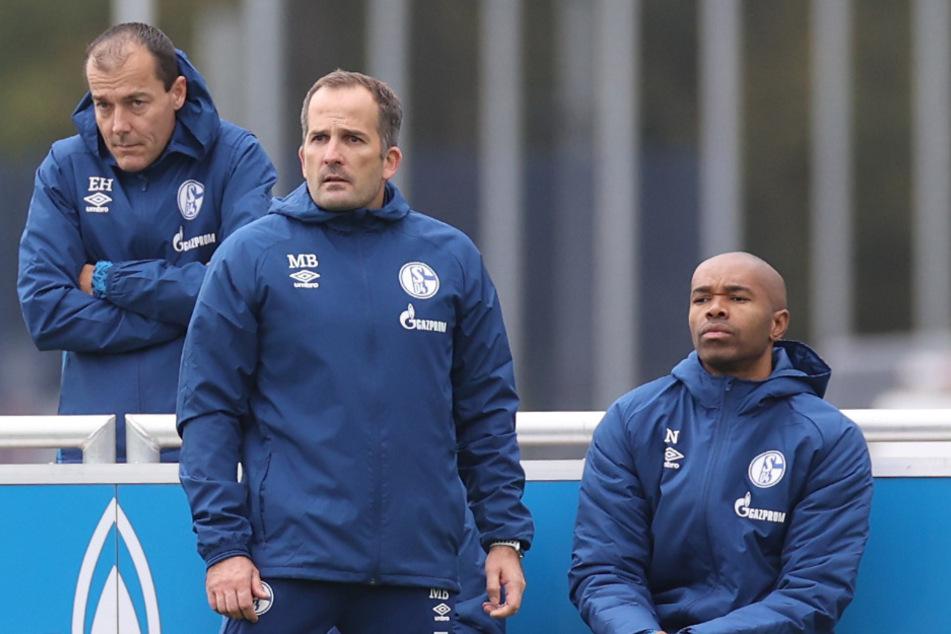 Hat das Trainerteam um Manuel Baum (41, M.) und Naldo (38, re.) die Kabine nach nur wenigen Wochen schon wieder verloren?
