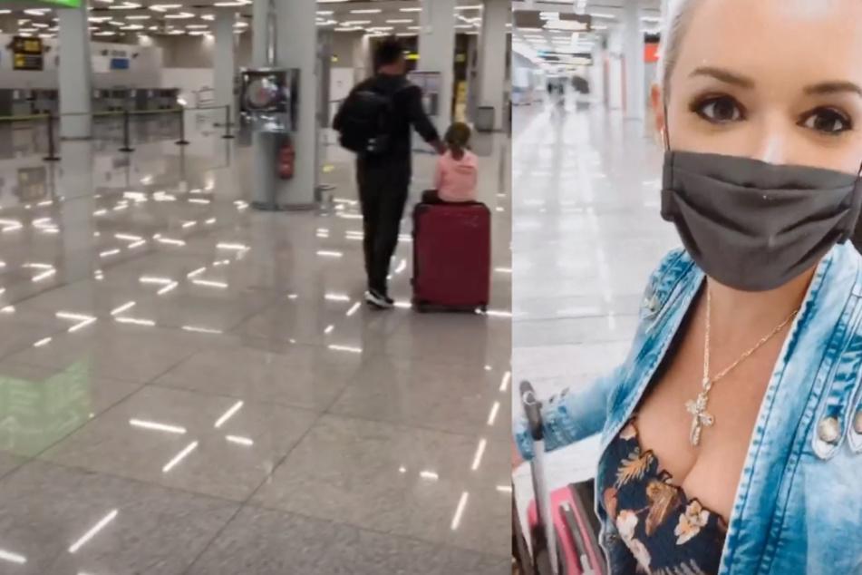 Daniela Katzenberger berichtet: So sieht es gerade am Flughafen von Palma aus